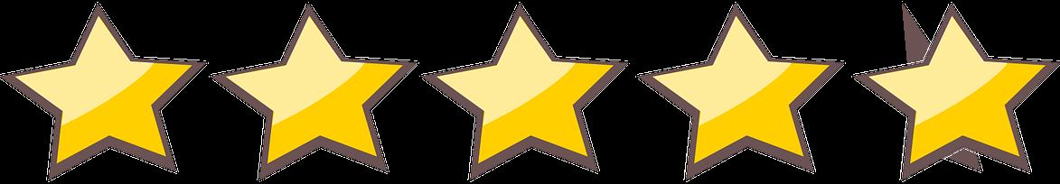 stelle recensioni 5